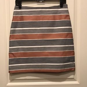 LOFT stripe skirt, size 4P